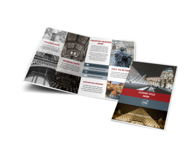 European Art Museum Bi-Fold Brochure Template
