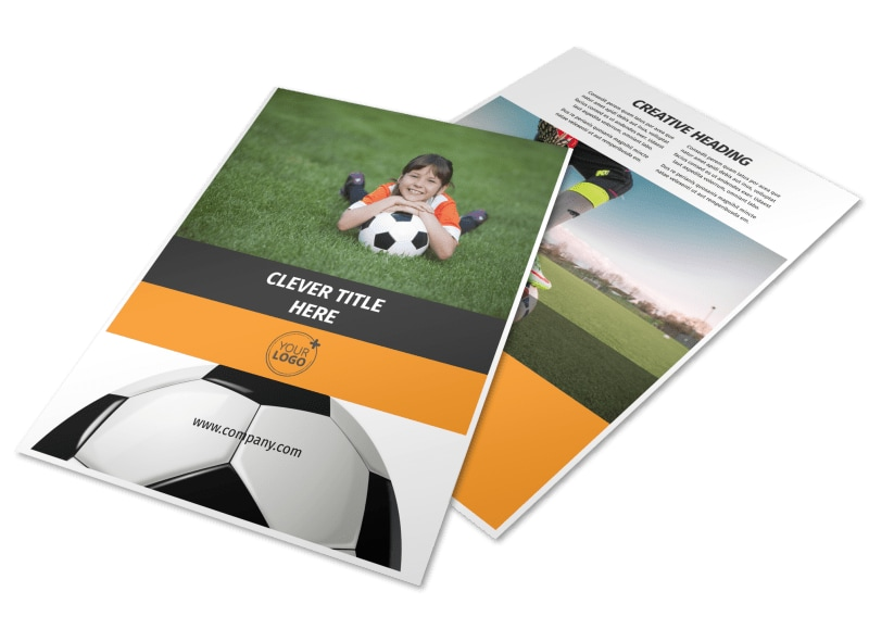 Weekend Soccer Camp Flyer Template  Mycreativeshop