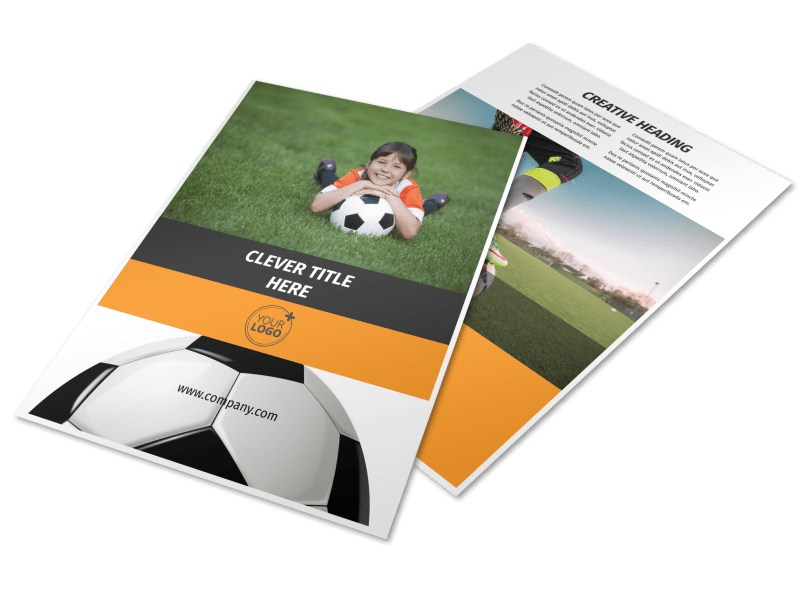 Weekend Soccer Camp Flyer Template Preview 1