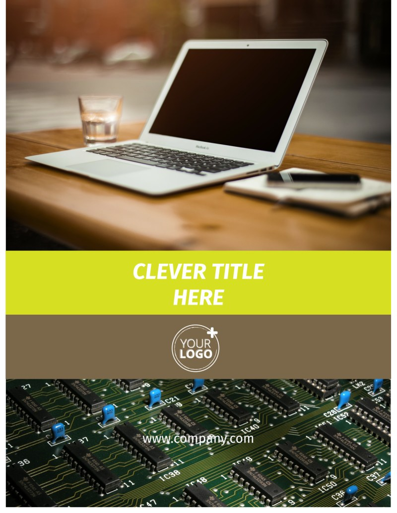 Computer Technology Manufacturer Flyer Template Preview 2