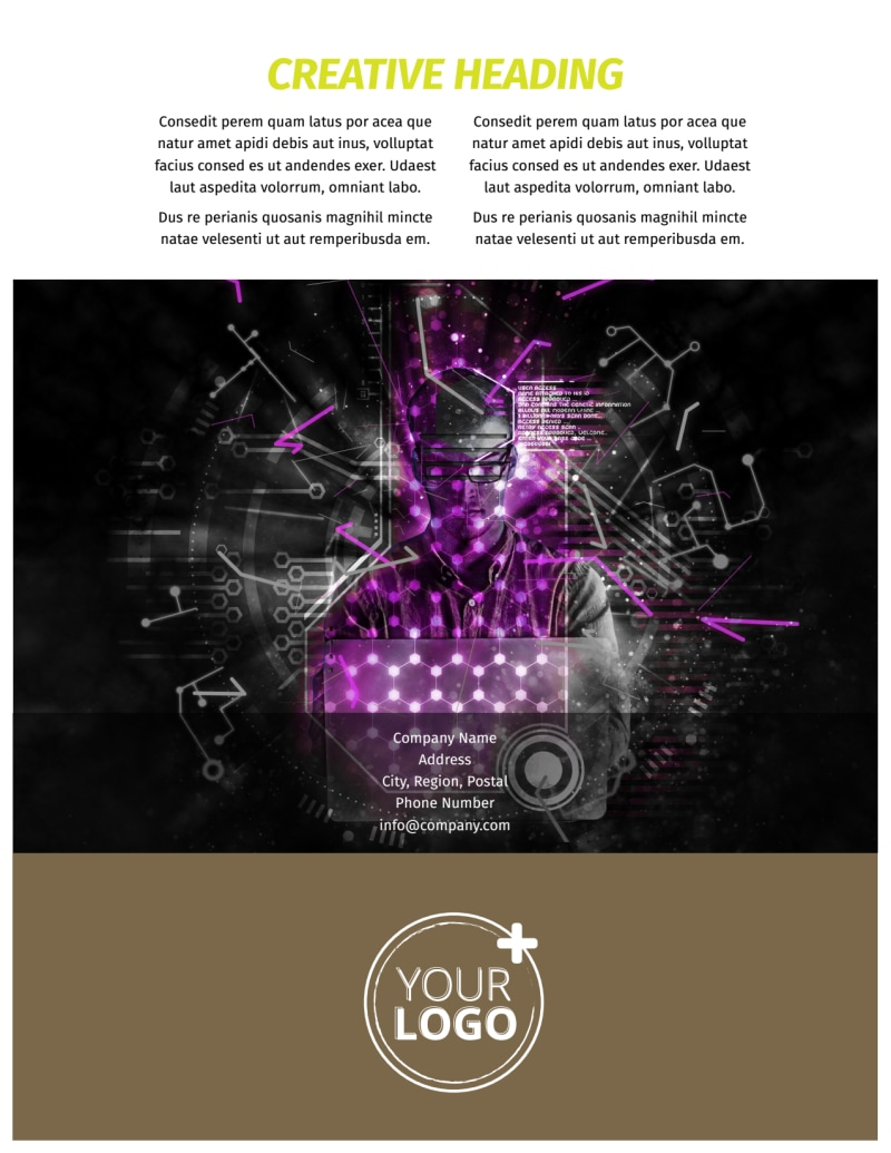 Computer Technology Manufacturer Flyer Template Preview 3