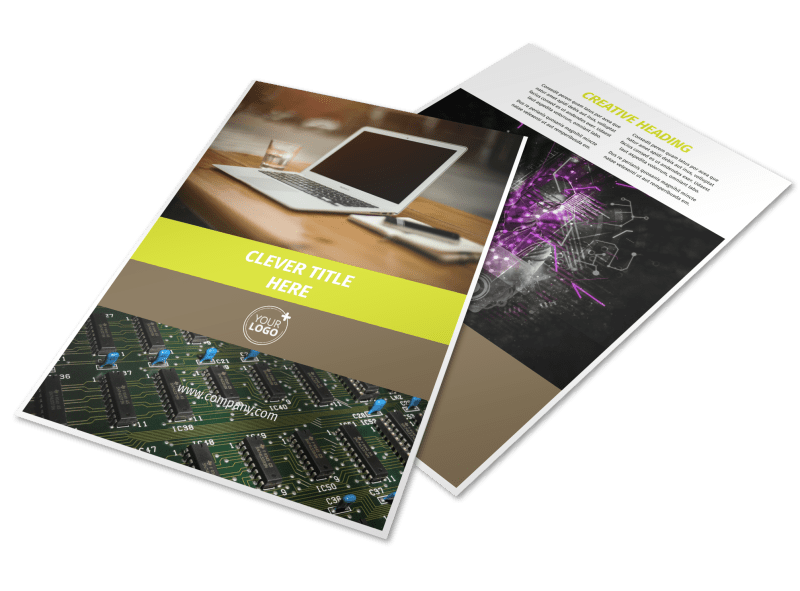 Computer Technology Manufacturer Flyer Template Preview 1