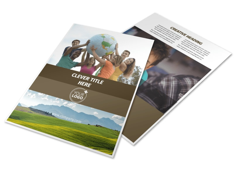 African Mission Trip Flyer Template