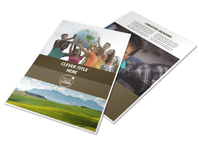 African Mission Trip Flyer Template Preview 1