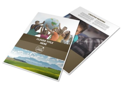 African Mission Trip Flyer Template preview