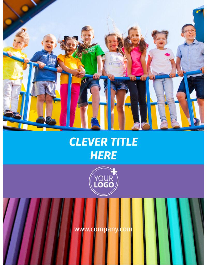 First-School Preschool Activities Flyer Template Preview 2