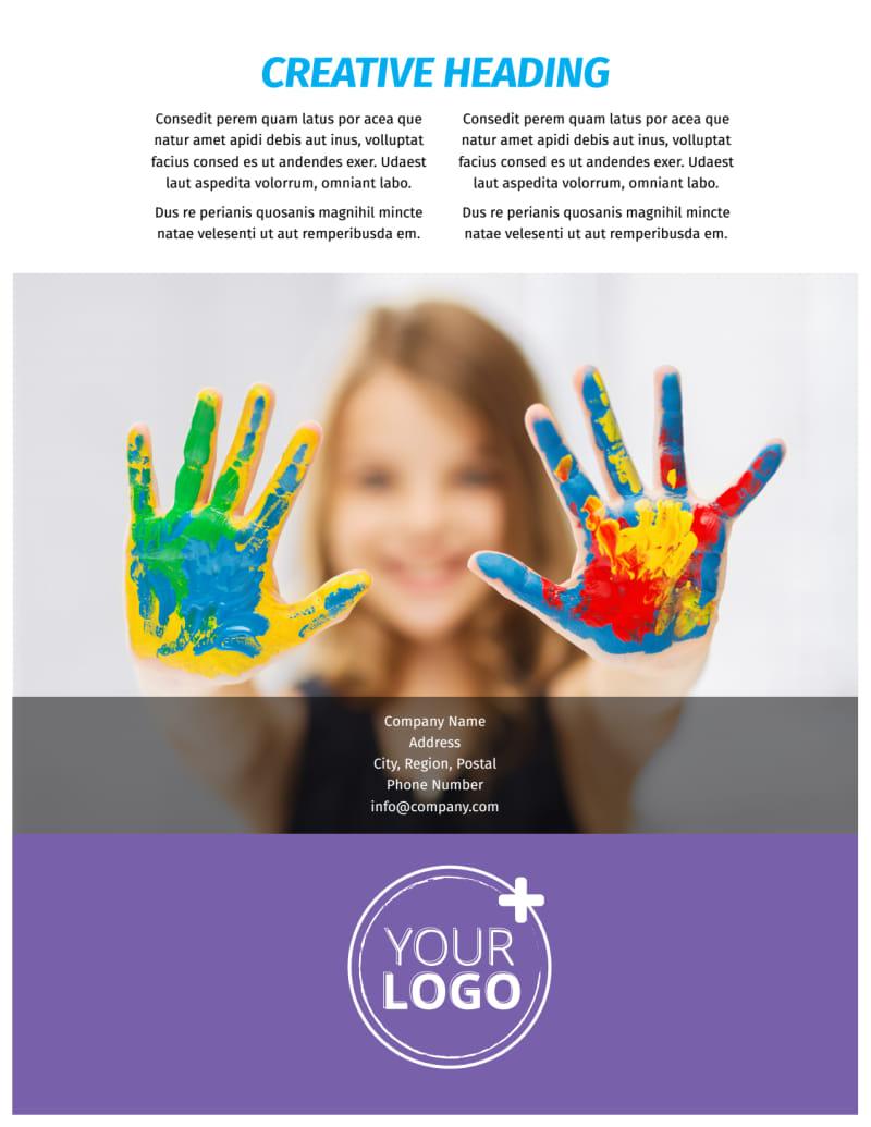 First-School Preschool Activities Flyer Template Preview 3