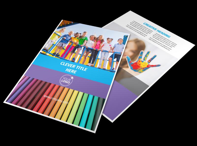 first school preschool activities flyer template