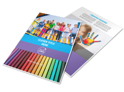 First-School Preschool Activities Flyer Template