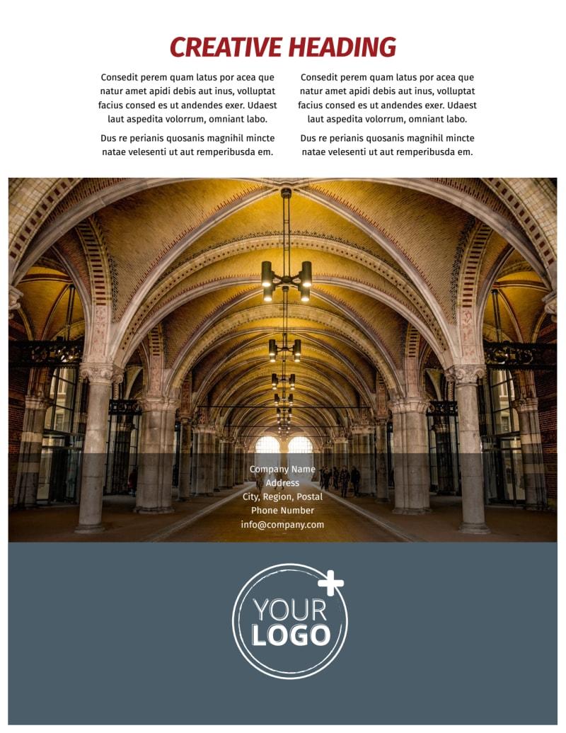 European Art Museum Flyer Template Preview 3