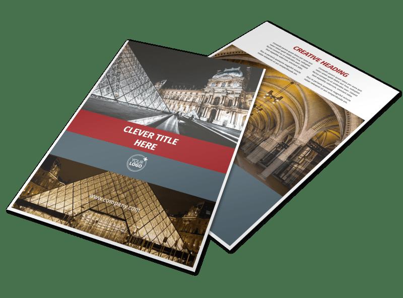 European Art Museum Flyer Template Preview 1