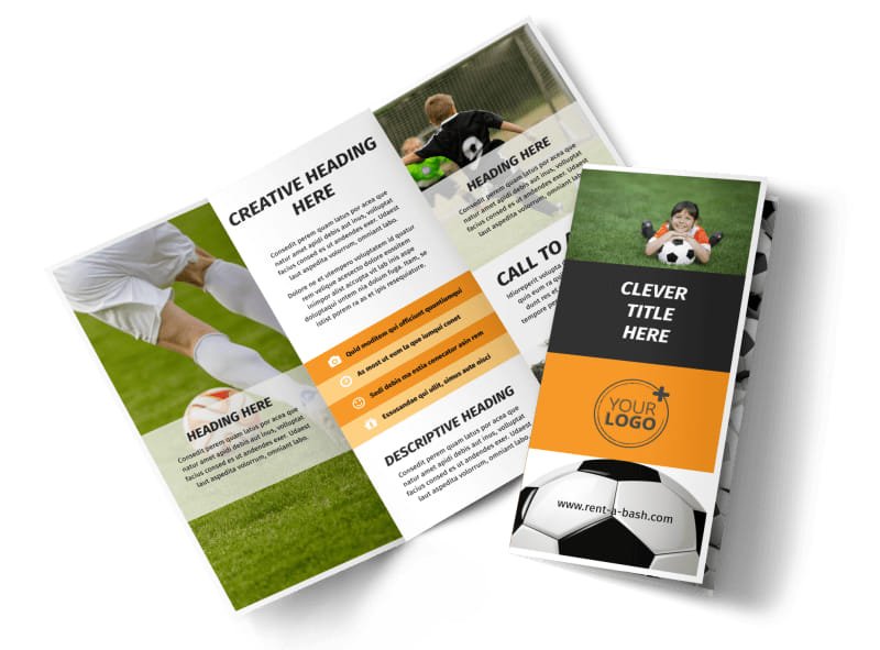 Weekend Soccer Camp Brochure Template MyCreativeShop - Tri fold school brochure template