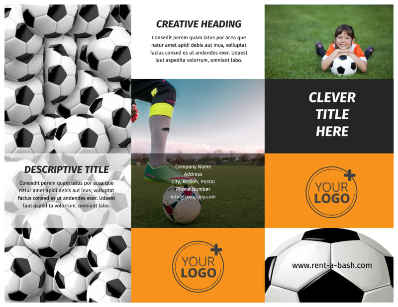 Weekend Soccer Camp Brochure Template Preview 2