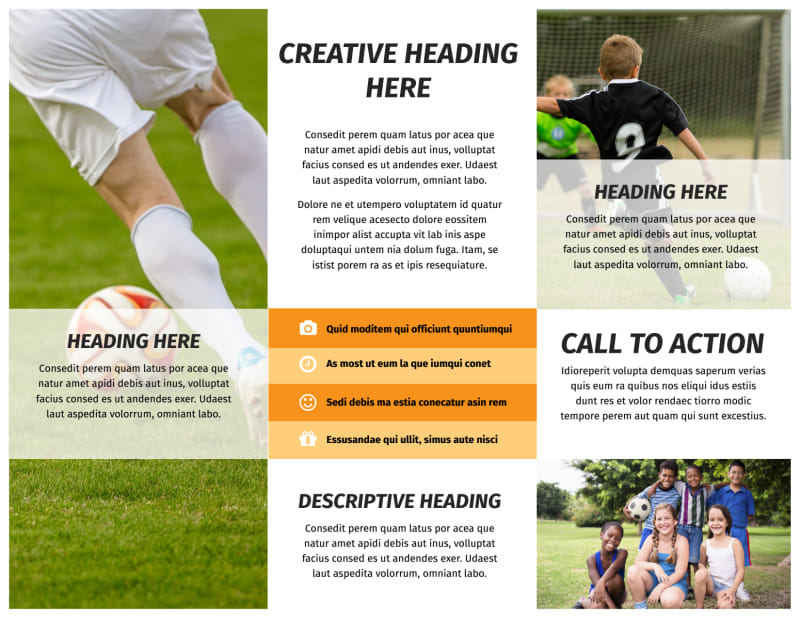 Weekend Soccer Camp Brochure Template Preview 3