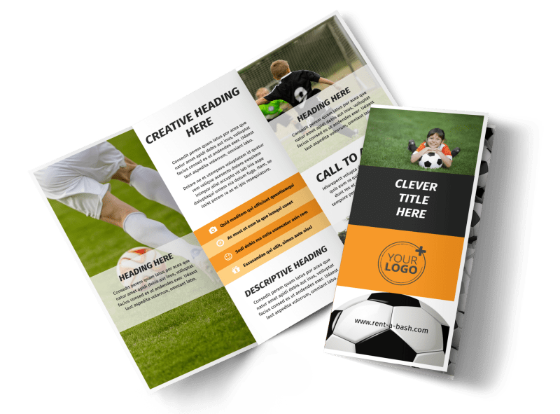 Weekend Soccer Camp Brochure Template Preview 1