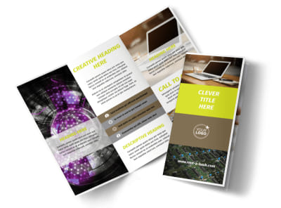 High-Tech Manufacturing Company Tri-Fold Brochure Template