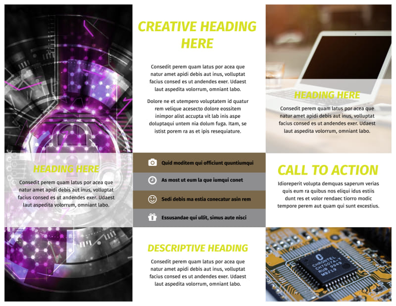Computer Technology Manufacturer Brochure Template Preview 3