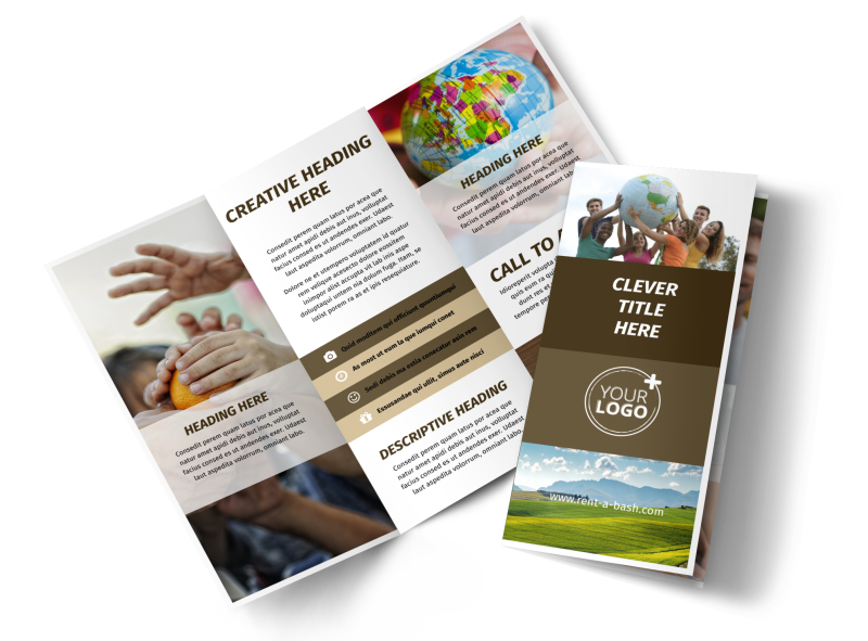 African Mission Trip Brochure Template Preview 1