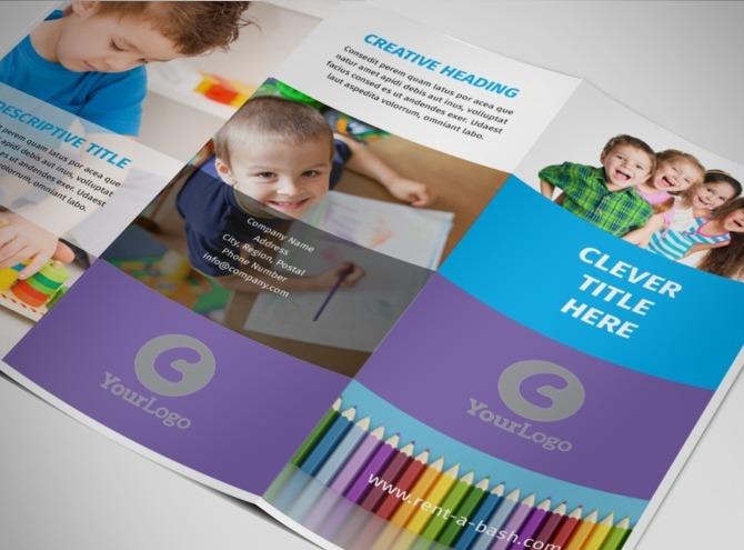 Online Brochure Maker – Sample Preschool Brochure