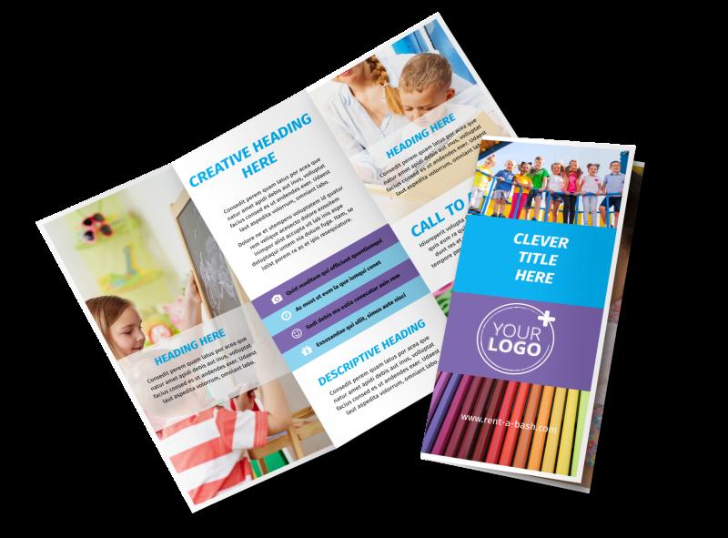 First-School Preschool Activities Brochure Template Preview 1