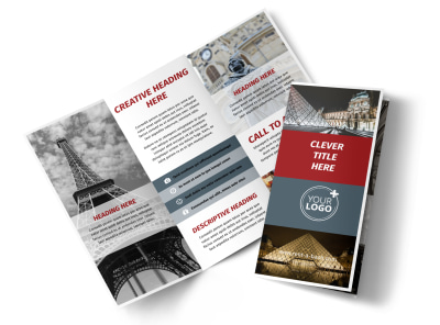 European Art Museum Tri-Fold Brochure Template