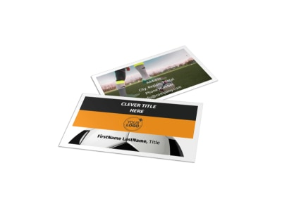 Youth Soccer Business Card Template preview