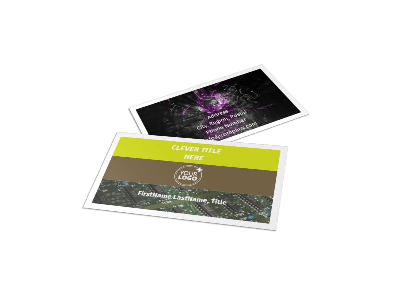 Computer technology manufacturer business card template mycreativeshop computer technology manufacturer business card template flashek Images