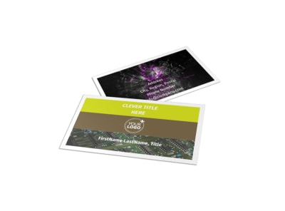 High-Tech Manufacturing Company Business Card Template preview