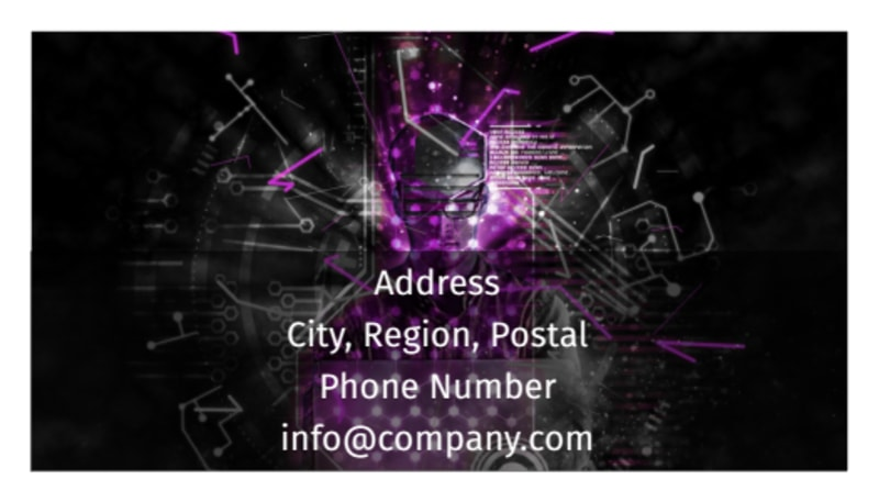 Computer Technology Manufacturer Business Card Template Preview 3