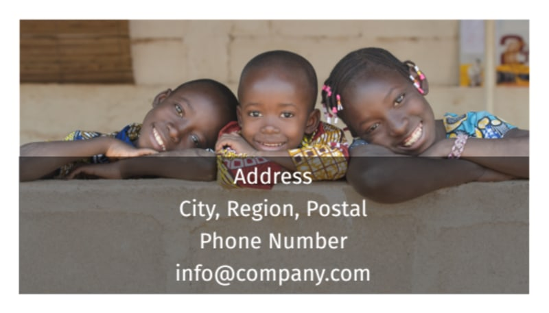 African Mission Trip Business Card Template Preview 3
