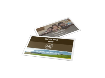 African Mission Trip Business Card Template