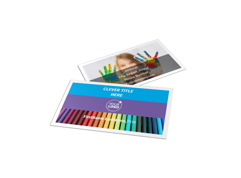First School Preschool Activities Business Card Template