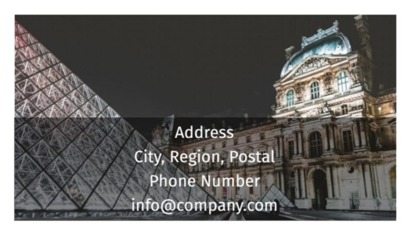 European Art Museum Business Card Template Preview 3