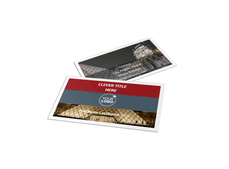 European Art Museum Business Card Template Preview 1