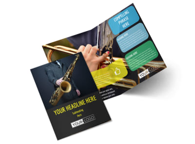 Jazz Music Event Bi-Fold Brochure Template 2