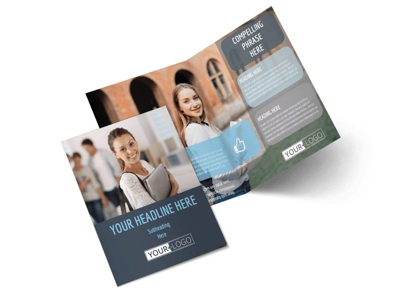 Tech University Bi-Fold Brochure Template 2