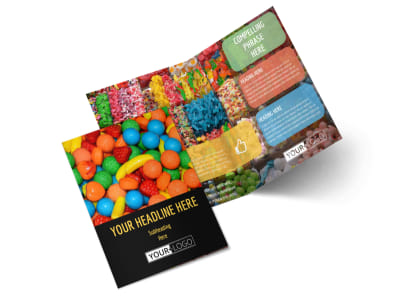 Sweet Candy Store Bi-Fold Brochure Template 2