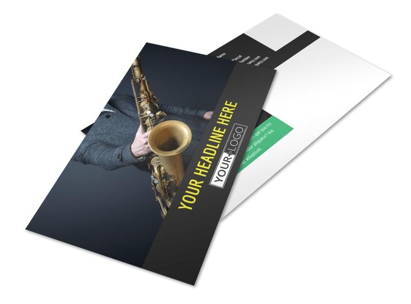 Jazz Music Event Postcard Template 2