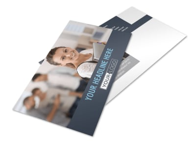 Tech University Postcard Template 2