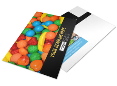 Sweet Candy Store Postcard Template 2 preview