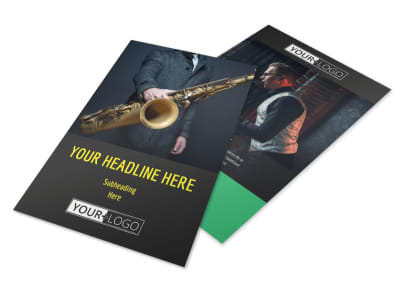 Jazz Music Event Flyer Template 3