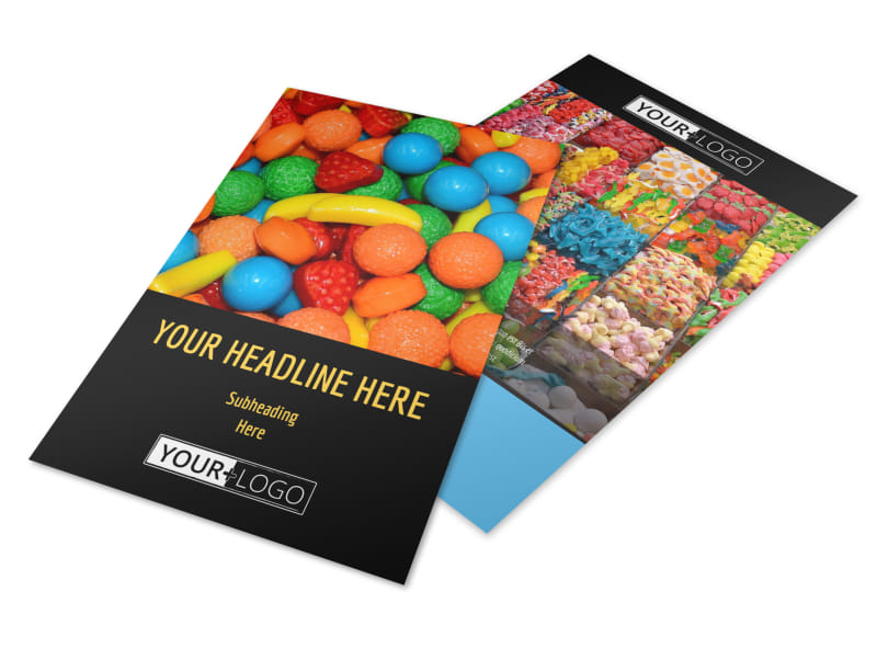 Sweet Candy Store Flyer Template 3