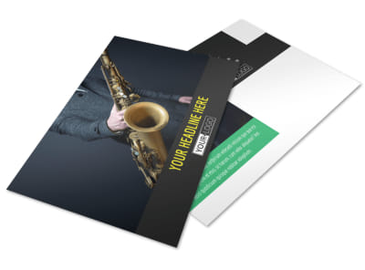 Jazz Music Event Postcard Template preview