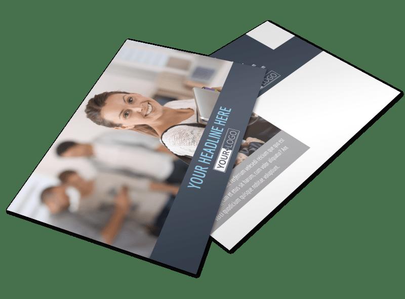Tech University Postcard Template Preview 1