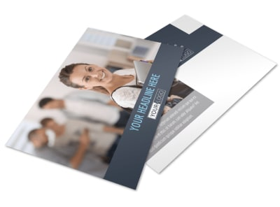 Tech University Postcard Template preview