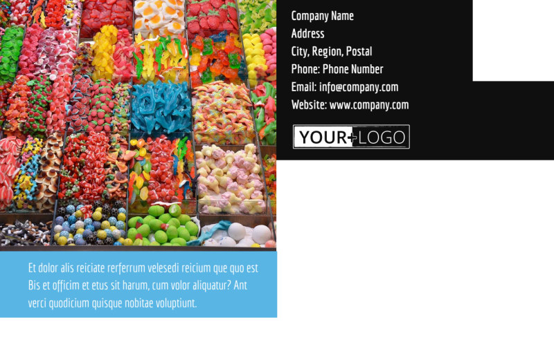 Sweet Candy Store Postcard Template Preview 3