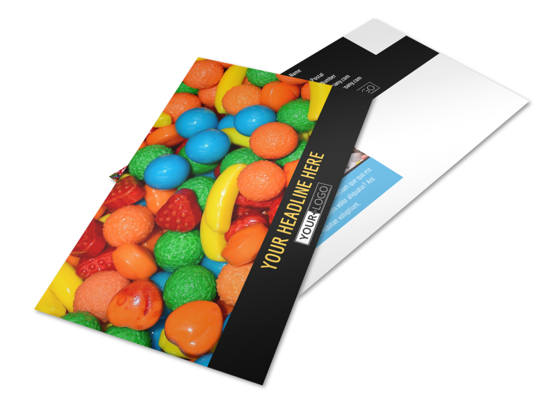 Sweet Candy Store Postcard Template Preview 1