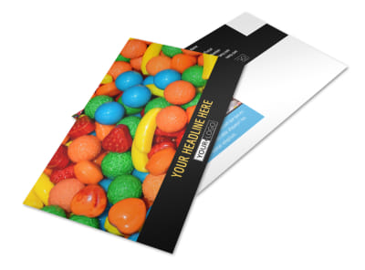 Sweet Candy Store Postcard Template preview