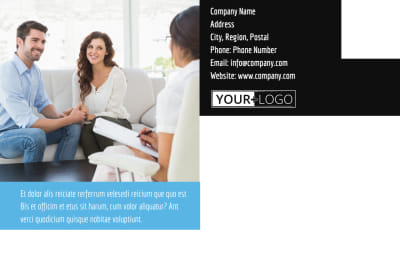 Mental Health Counseling Postcard Template Preview 2