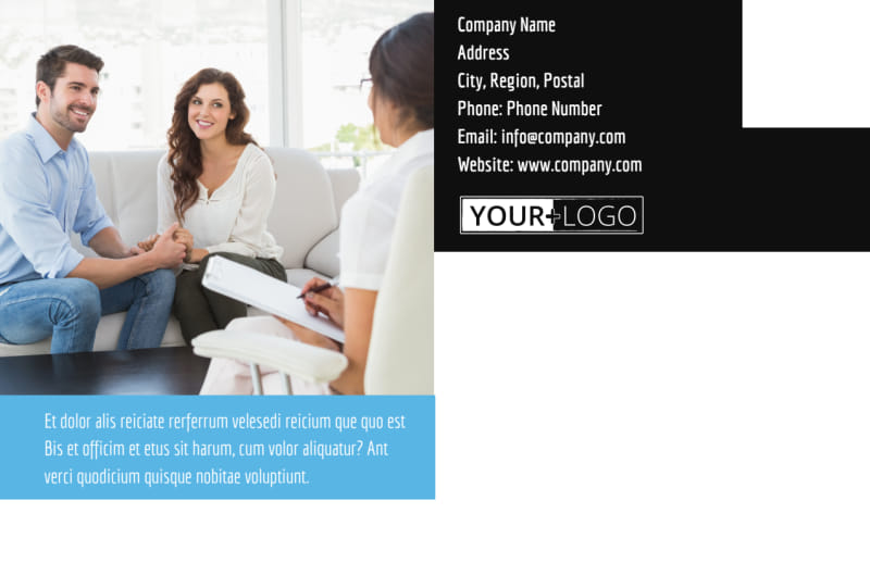 Mental Health Counseling Postcard Template Preview 3